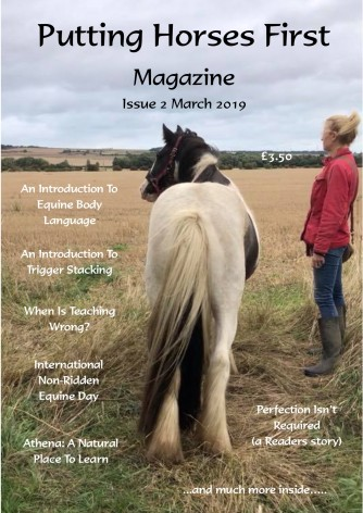 Putting Horses First Magazine Issue 2 cover photo lulu
